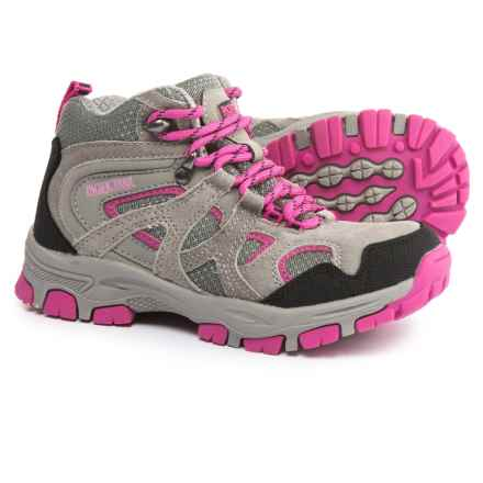 Pacific Trail Diller Jr. Hiking Shoes (For Little and Big Girls) in Grey/Pink - Closeouts