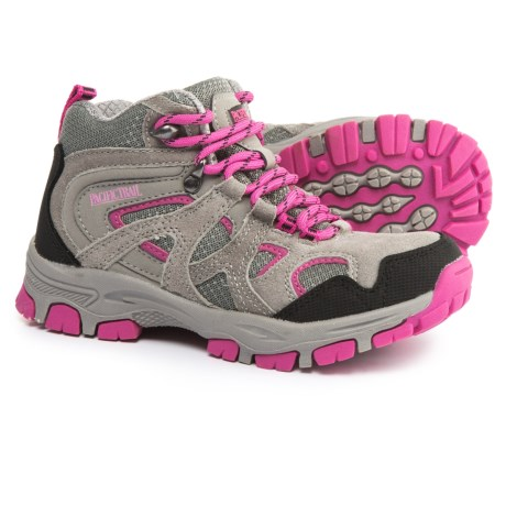 Pacific Trail Diller Jr. Hiking Shoes (For Little and Big Girls) in Grey/Pink