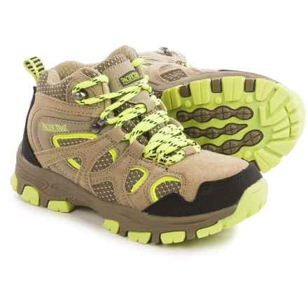 Pacific Trail Diller Junior Hiking Boots (For Little and Big Boys) in Taupe/Lemon - Closeouts