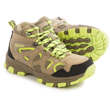 Pacific Trail Diller Junior Hiking Boots (For Little and Big Boys) in Taupe/Lemon