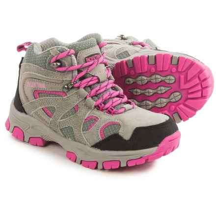 Pacific Trail Diller Junior Hiking Boots (For Little and Big Kids) in Grey/Pink - Closeouts