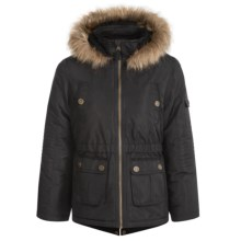 Pacific Trail Faille Parka (For Big Girls) in Black - Closeouts