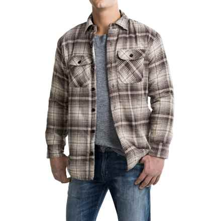 Pacific Trail Fleece-Lined Flannel Shirt Jacket - Button Front (For Men) in Brown/Natural - Closeouts