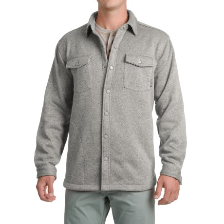 Pacific Trail Fleece Shirt Jacket (For Men) in Grey Heather