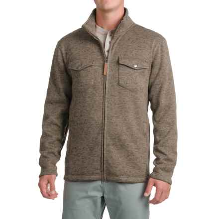 Pacific Trail Fleece Shirt Jacket - Zip Up (For Men) in Dark Olive Heather - Closeouts