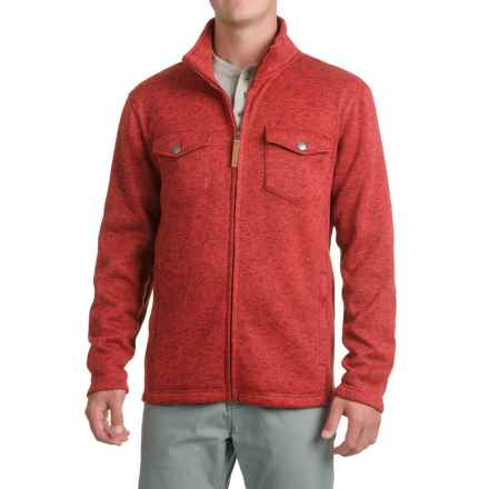 Pacific Trail Fleece Shirt Jacket - Zip Up (For Men) in Red Ochre Heather - Closeouts