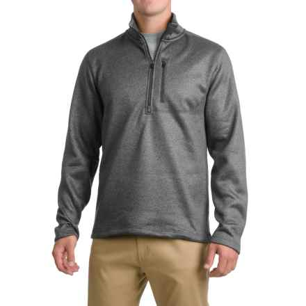 Pacific Trail Fleece Sweater - Zip Neck (For Men) in Charcoal - Closeouts