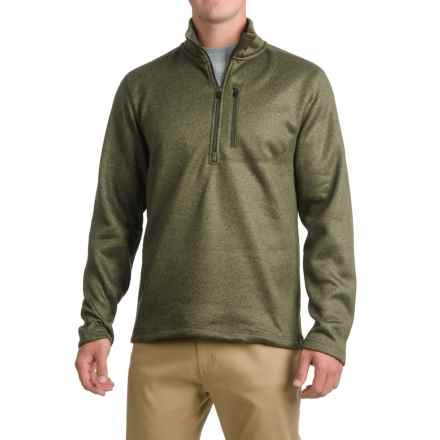 Pacific Trail Fleece Sweater - Zip Neck (For Men) in Olive - Closeouts