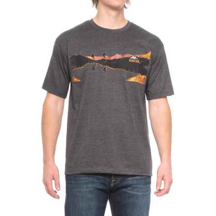Pacific Trail Graphic T-Shirt - Short Sleeve (For Men) in Black Heather/Hikers - Closeouts