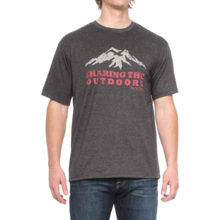 Pacific Trail Graphic T-Shirt - Short Sleeve (For Men) in Black Heather/Sharing The Outdoors - Closeouts