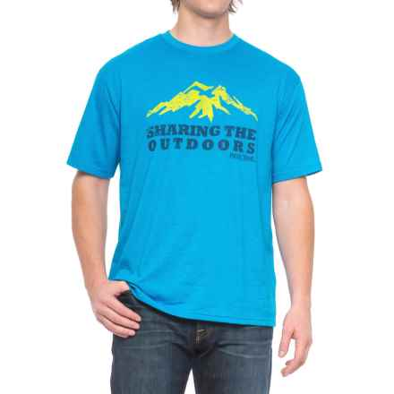 Pacific Trail Graphic T-Shirt - Short Sleeve (For Men) in Blue Heather/Sharing The Outdoors - Closeouts