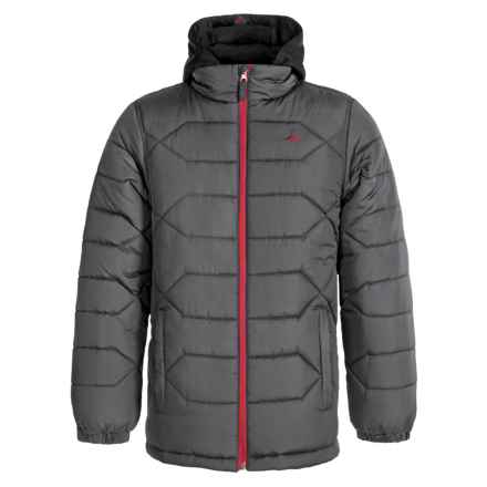 Pacific Trail Heavy Puffer Jacket (For Big Boys) in Asphalt - Closeouts