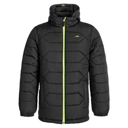 Pacific Trail Heavy Puffer Jacket (For Big Boys) in Black - Closeouts