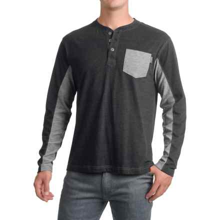 Pacific Trail Henley Shirt - Long Sleeve (For Men) in Black Heather - Closeouts