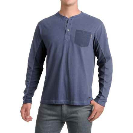 Pacific Trail Henley Shirt - Long Sleeve (For Men) in Blue Heather - Closeouts