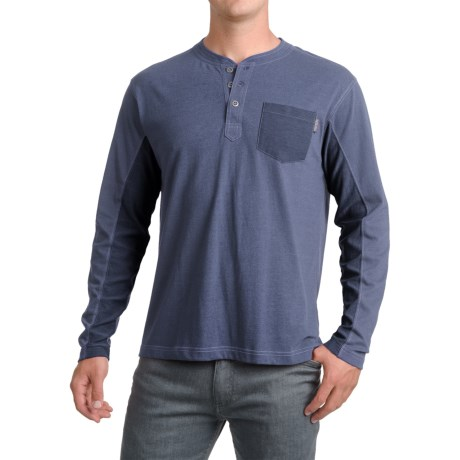 Pacific Trail Henley Shirt - Long Sleeve (For Men) in Blue Heather