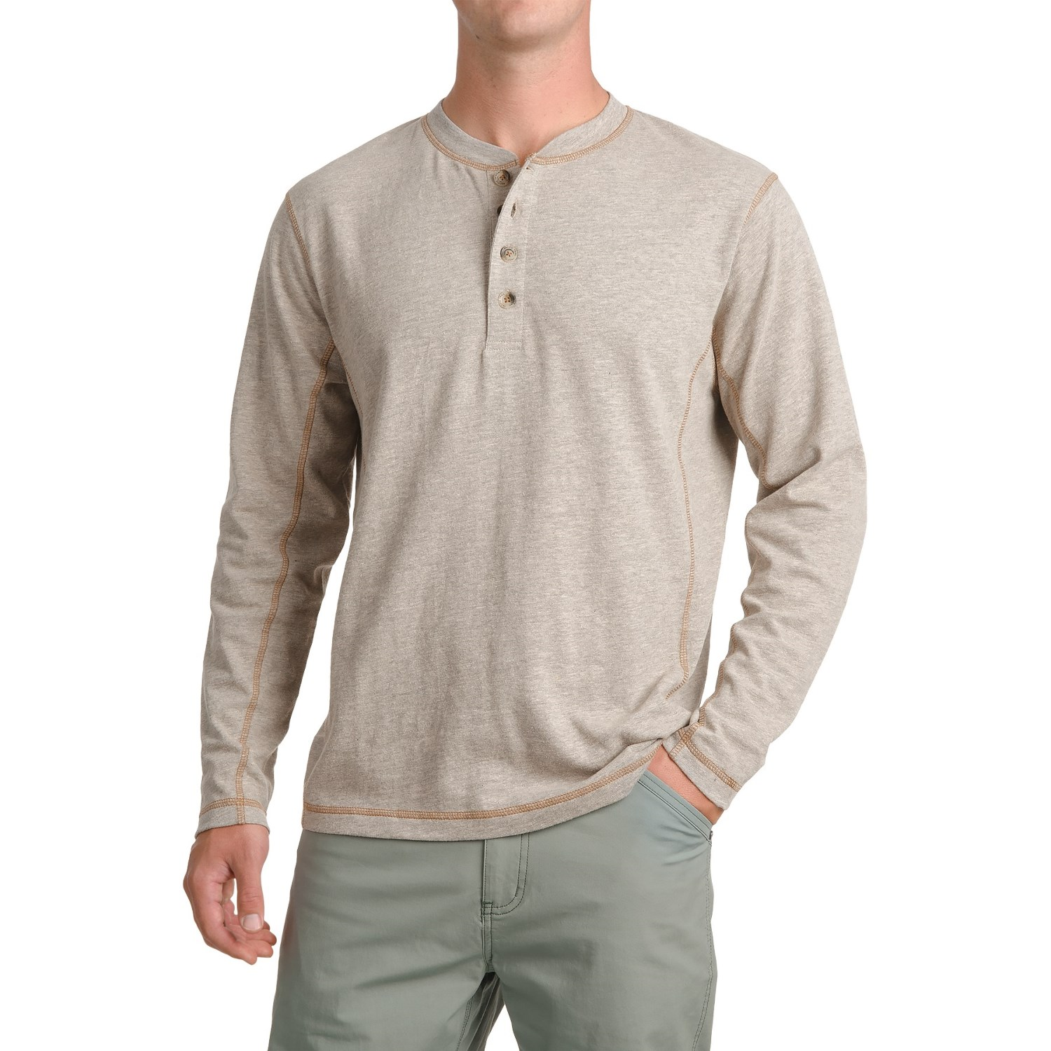 Pacific trail henley shirt for men save 66 for Men s thermal henley long sleeve shirts