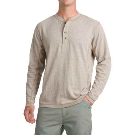 Pacific Trail Henley Shirt - Long Sleeve (For Men) in Oatmeal Heather - Closeouts