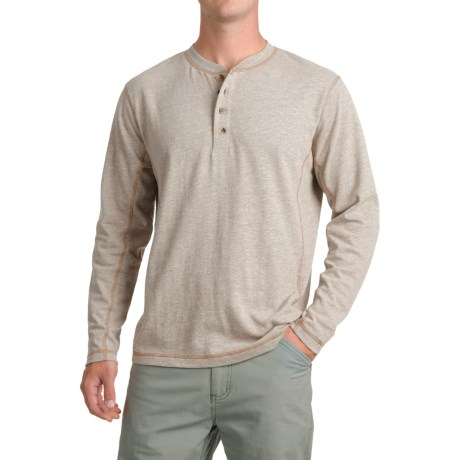 Pacific Trail Henley Shirt - Long Sleeve (For Men) in Oatmeal Heather
