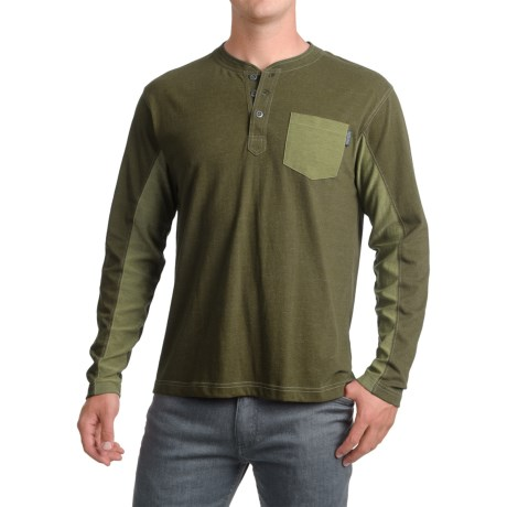 Pacific Trail Henley Shirt - Long Sleeve (For Men) in Olive Heather