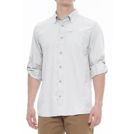 Pacific Trail High-Performance Perforated Shirt - UPF 30, Long Sleeve (For Men) in Light Grey