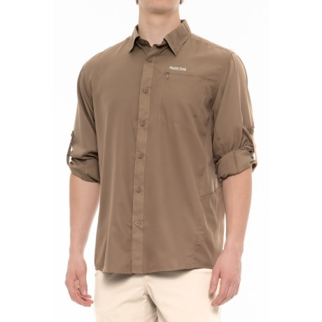 Pacific Trail High-Performance Perforated Shirt - UPF 30, Long Sleeve (For Men) in Mushroom