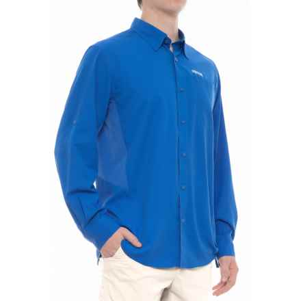 Pacific Trail High-Performance Perforated Shirt - UPF 30, Long Sleeve (For Men) in Strong Blue - Closeouts