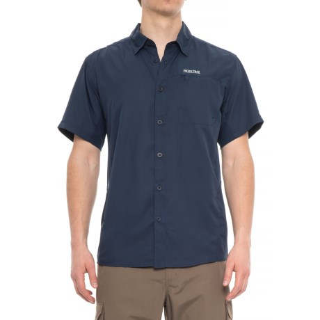 Pacific Trail High-Performance Woven Shirt - UPF 30, Short Sleeve (For Men) in Dress Blue