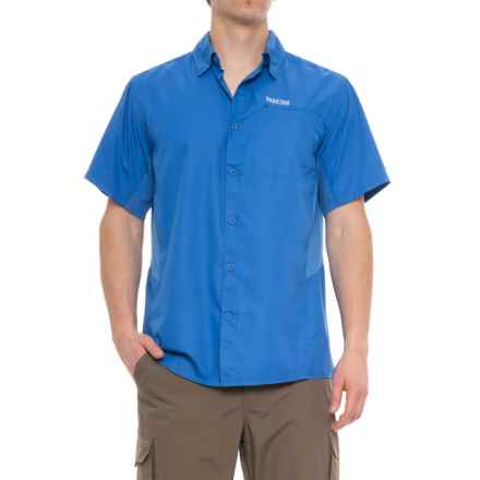 Pacific Trail High-Performance Woven Shirt - UPF 30, Short Sleeve (For Men) in Strong Blue - Closeouts
