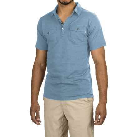 Pacific Trail Jersey Polo Shirt - UPF 30, Cotton Blend, Button Neck (For Men) in Steel Blue - Closeouts