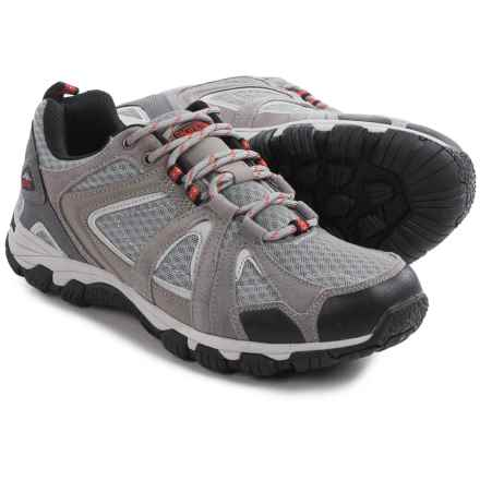 Pacific Trail Lava Hiking Shoes - Suede (For Men) in Dove/Black/Molten - Closeouts