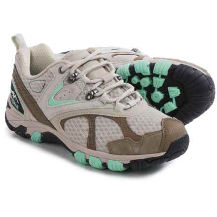Pacific Trail Lawson Hiking Shoes - Suede (For Women) in Taupe/Cabbage - Closeouts