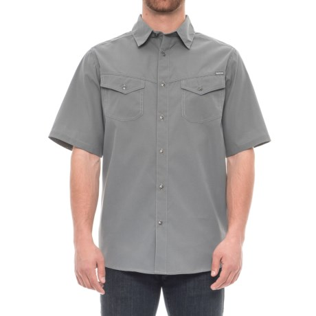 Pacific Trail Mini Check Shirt - UPF 30, Short Sleeve (For Men) in Cliff Grey