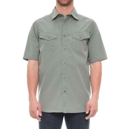 Pacific Trail Mini Check Shirt - UPF 30, Short Sleeve (For Men) in Forest Night - Closeouts
