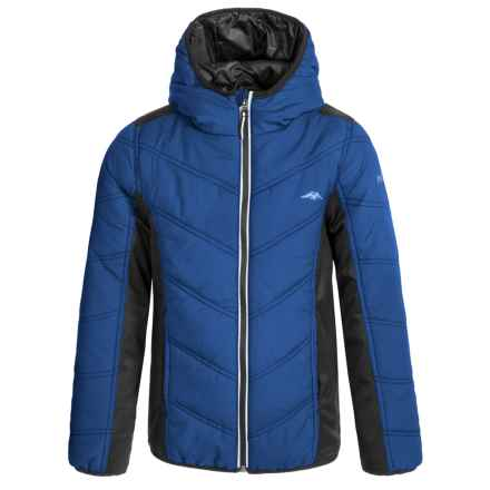 Pacific Trail Mixed Media Hooded Jacket (For Big Boys) in True Blue - Closeouts