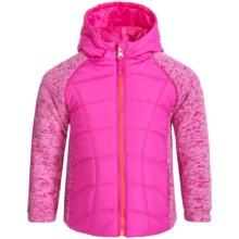 Pacific Trail Mixed Media Jacket (For Toddlers) in Intense Pink - Closeouts