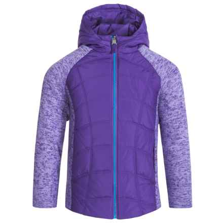 Pacific Trail Mixed Media Jacket (For Toddlers) in Royal Purple - Closeouts