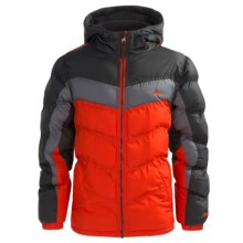 Pacific Trail Nordic-Fleece-Lined Puffer Jacket - Heavyweight (For Big Boys) in Orange - Closeouts