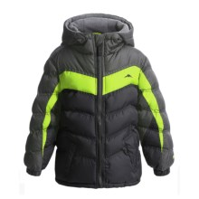 Pacific Trail Nordic-Fleece-Lined Puffer Jacket - Heavyweight (For Little Kids) in Black - Closeouts