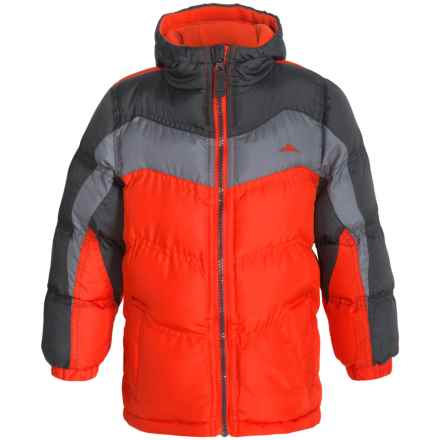 Pacific Trail Nordic Puffer Jacket - Fleece Lined, Insulated (For Toddlers) in Orange - Closeouts