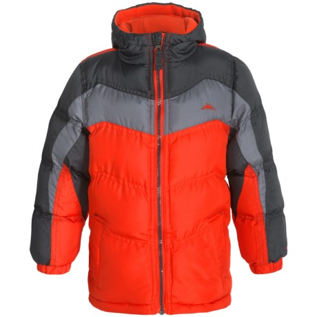 Pacific Trail Nordic Puffer Jacket - Fleece Lined, Insulated (For Toddlers) in Orange