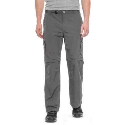 Pacific Trail Nylon Faille Convertible Pants - UPF 15 (For Men) in Cliff Grey - Closeouts