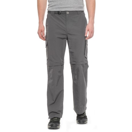 Pacific Trail Nylon Faille Convertible Pants - UPF 15 (For Men) in Cliff Grey
