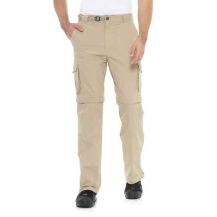 Pacific Trail Nylon Faille Convertible Pants - UPF 15 (For Men) in Stone - Closeouts