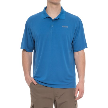 Pacific Trail Performance-Cooling Polo Shirt - Short Sleeve (For Men) in Strong Blue