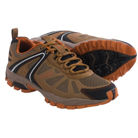 Pacific Trail Pilot Trail Running Shoes (For Men) in Taupe/Black/Orange