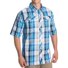 Pacific Trail Plaid Shirt - UPF 30, Short Sleeve (For Men) in Blue/Navy - Closeouts