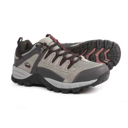 Pacific Trail Plateau Hiking Shoes (For Women) in Grey/Gunmetal/Burgundy - Closeouts