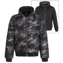 Pacific Trail Printed Camo Jacket - Reversible, Insulated (For Little and Big Boys) in Black - Closeouts