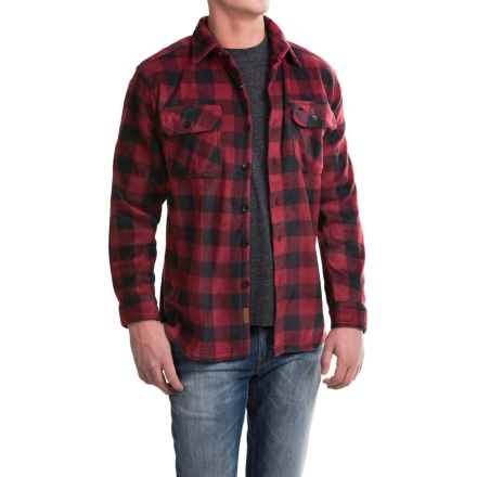 Pacific Trail Printed Fleece Shirt Jacket (For Men) in Red/Black - Closeouts